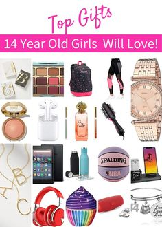 Cool gift ideas for a 14 year old girls' birthday, Christmas or any other Holiday. Top rated gifts including beauty, music, books, decor, gadgets and more   Gifts for Teenage Girls Top Gifts For Girls, Teenage Girl Gifts, Christmas Gifts For Girls, Birthday Gifts For Girls, Christmas Ideas, 10 Year Old Gifts, Cool Gifts, Best Gifts, 14 Year Old Girl