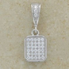 Sterling Silver Micro Set Cubic Zirconia Pendant Inc Chain Irish Jewelry, Sterling Silver Necklaces, Bling, Pendants, Pendant Necklace, Personalized Items, Chain, Gifts, Sterling Necklaces
