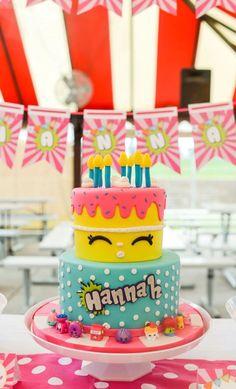 Shopkins cake from a Shopkins Birthday Party via Kara's Party Ideas | http://KarasPartyIdeas.com (25)