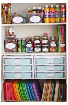 Craft Closet Organization, Small Bedroom Organization, Craft Room Storage, Organization Ideas, Craft Rooms, Wall Storage, Toy Storage, Bedroom Storage, Organizing Tools