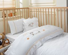 'LITTLE SHEEP' #Ecocotton, #100% Organic, #Baby Collection,  #Embroidered Duvet Set, #Organic Baby, #Baby http://www.ecocotton.com.tr/UrunDetay.aspx?urun=334&lang=2