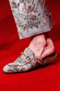 Gucci Fall '16 Fur Loafers Seen At Milan Men's Fashion