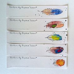 Bookmarks Set of 5 from Original Illustrations by PebbleandBee