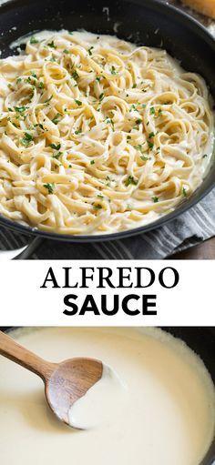 Pasta Alfredo Receta, Salsa Alfredo, Best Alfredo Sauce Recipe, Make Alfredo Sauce, Cream Sauce Pasta, Noodle Sauce Recipe, Fettucini Alfredo Sauce Recipe, Gastronomia, Gourmet