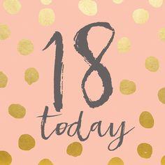 Nieuw De 21 beste afbeeldingen van 18de verjaardag   Verjaardag, 18e RA-54