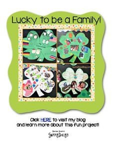Here's a fun family project for St. Patrick's Day that will brighten up your classroom this spring! Click HERE to visit my blog to learn more about it :)