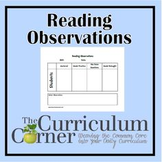 Reading Observations Form