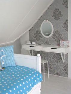 Ikea Ekby Alex shelf for vanity - Ella's room Home Bedroom, Girls Bedroom, Bedroom Decor, Bedrooms, Home Goods Decor, Cute Home Decor, Home Design, Interior Design, White Dressing Tables