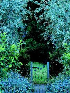 Little gate to the enchanted garden. I DEFINITELY want a Faerie Garden in my yard. Guess I better get started!