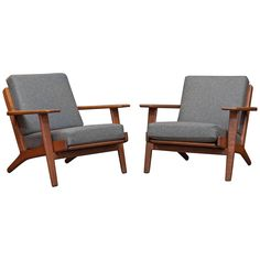 Hans J Wegner Armchairs | From a unique collection of antique and modern armchairs at https://www.1stdibs.com/furniture/seating/armchairs/