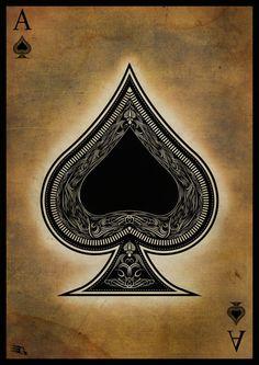 Ace of spades by *gaberios on deviantart carta coringa, baralhos, estampas, Ace Of Spades Tattoo, Spade Tattoo, Ace Card, Playing Cards Art, Pokerface, Card Tattoo, Dice Tattoo, Deck Of Cards, Illustration Art