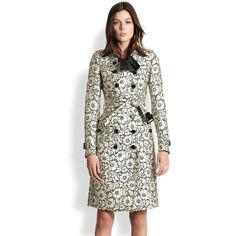 Burberry London Brocade-Lace Trenchcoat