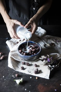 cocoa puffs with homemade almond milk