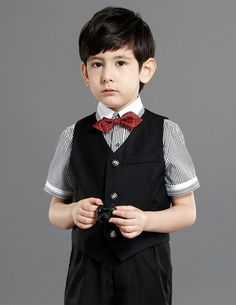 Children Tuxedo/Vest Suit/Performance Clothing/Small Suits Set/Ring Bearer Suits