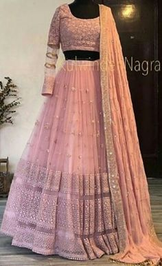 Explore from latest collection of lehengas online. Shop for lehenga choli, wedding lehengas, chaniya choli, ghagra choli & designer lehengas in variety of colors. Indian Fashion Dresses, Indian Gowns Dresses, Indian Bridal Outfits, Indian Bridal Lehenga, Dress Indian Style, Indian Designer Outfits, Pakistani Dresses, Lehenga Wedding Bridal, Indian Wedding Gowns