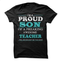 PROUD SON OF AWESOME TEACHER - #striped shirt #mens casual shirts. MORE INFO => https://www.sunfrog.com/Jobs/PROUD-SON-OF-AWESOME-TEACHER.html?id=60505