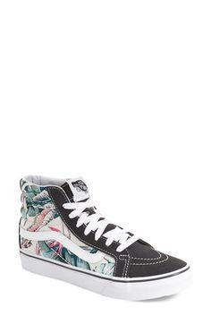 cbc803579a97ec Vans Slim  Hi Top Sneaker textile leather floral multi white