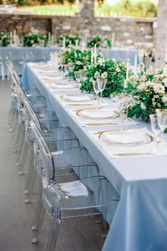 The Dreamiest Blue and Gold Wedding at a Private Villa in Paros, Greece Paros, White Ribbon, Beautiful Islands, Gold Wedding, Greece, Villa, Table Decorations, Wedding Ideas, Events