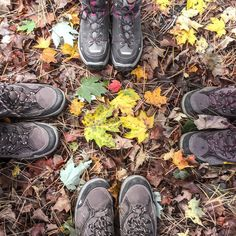 Happy #feettrait in the woods with colorful leaves a cabin a lake and walking boots! What else?  #sageonearth
