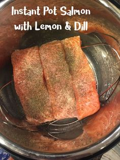 Instant Pot Salmon Recipe - Instant Pot Salmon with Lemon and Dill Butter is my new favorite way to make salmon. Dill Recipes, Salmon Recipes, New Recipes, Crockpot Recipes, Cooking Recipes, Favorite Recipes, Seafood Recipes, Ninja Recipes, Paleo Meals