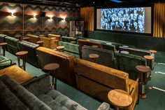 things to do in London Everyman Cinema pops up at Selfridges – Now.Everyman Cinema pops up at Selfridges – Now. Cinema Room Small, Home Cinema Room, Home Theater Rooms, Home Theater Design, Home Cinema Speakers, Cinema Seats, Cinema Theater, Movie Theater, Room Screen