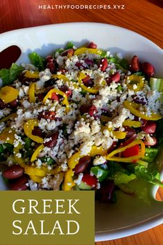 The traditional Greek salad recipe; healthy, simple and absolutely delicious! Find out how to make this Horiatiki (Xoriatiki) salad the traditional Greek way with this authentic recipe. Greek Yogurt Salad Dressing, Greek Chicken Salad, Greek Quinoa Salad, Greek Salad Pasta, Salad Recipes Nz, Lettuce Recipes, Jamie Oliver, Greek Salad Calories, Food Network