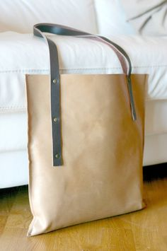 Leather Tote Bag - handmade leather tote - Made in Italy bag