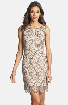 Art Deco Bridesmaid Dresses - Pisarro Nights Embellished Short Dress