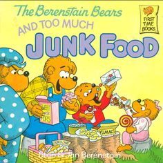 """""""The Berenstain Bears and Too Much Junk Food"""" by Stan and Jan Berenstain ah, one of my favorites! And I still crave junk food. 21 Day Sugar Detox, Nostalgia, Berenstain Bears, Up Book, 90s Kids, Biographies, Junk Food, Childhood Memories, Childhood Ruined"""