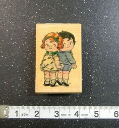 CAMPBELL SOUP KIDS STAND TALL Rubber Stamp STAMP AFFAIR #495