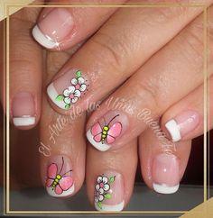 Mani Pedi, Nail Manicure, Pedicure, Natural Acrylic Nails, Gorgeous Nails, Nail Art Designs, Hair Beauty, Erika, Hair And Nails