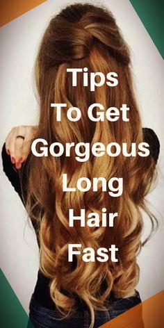 Tips To Get Gorgeous Long Hair Fast longhair stronghair hairgrowth haircare haircaretips 603200943820510059 Beauty Skin, Hair Beauty, Longer Hair Faster, Natural Hair Styles, Long Hair Styles, Strong Hair, Hair Care Tips, Hair Growth Tips, About Hair