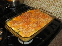 This is a great recipe for feeding a lot of folks, or for feeding a few and having left-overs.  The celery gives some crunch, and the bread crumbs and cheese browned on top adds a ton of flavor.  Enjoy!!