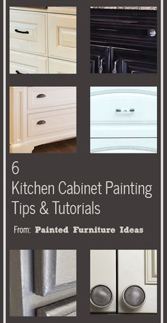 Here is a round up of some of my most popular kitchen cabinet painting tips and tutorials. I have put them into a slideshow for you to easily click through and read. View the slideshow below to see them: