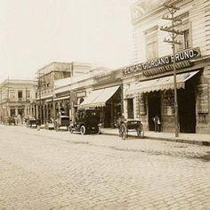 1915 - Avenida São João - Praça Giuseppe Verdi (atual Correios) - Pensão Giordano Bruno.