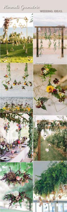 Modern himmeli geometric wedding decor ideas / http://www.deerpearlflowers.com/modern-himmeli-geometric-wedding-details/2/