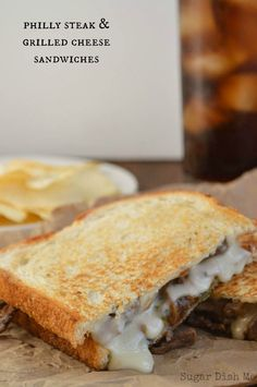 Philly Steak and Grilled Cheese - that   cheese sauce! Oh my WOW!