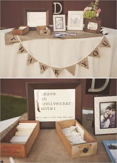 Guest book ideas: leave notes for the 1 year anniversary