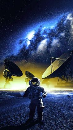 Deep in space Aliens, Astronaut Wallpaper, Space Illustration, Picture Day, Wonderful Picture, Scenery Wallpaper, Photo Manipulation, Cute Wallpapers, Crow