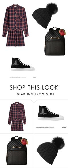 """Back to school"" by phamthuquynh on Polyvore featuring Current/Elliott, Betsey Johnson and Black"