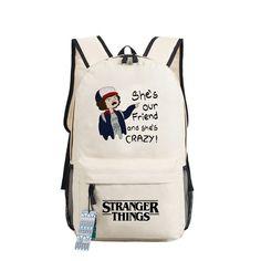 Stranger Things Backpack Season 3 Eleven Dustin Teen Girls Boys Kids School Bags Women Upside Down 3D Printed Laptop Backpacks Men Rucksacks Bookbags Adult Shoulder Bags Daypacks Merchandise 21