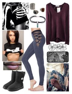 """""""Vanessa"""" by thwgi ❤ liked on Polyvore featuring UGG Australia, MANGO and Casetify"""