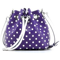 This chic Cross Body PU Drawstring Bucket Shoulder Bag-Sarah Jean Small  Polka Dot Spirit Bag by SCORE! 96c440a19da14