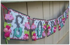 Items similar to Handmade Banner - Custom made - GO GREEN - Name Banner Happy Birthday Baby Shower Bridal Shower Cupcakes on Etsy Cricut Banner, Bridal Shower Cupcakes, Bridal Shower Tables, Shower Cakes, Green Name, Go Green, Happy Birthday Baby, Happy Birthday Banners, Name Banners