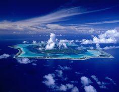 Beautiful islands. Bora Bora, Tahiti, French Polynesia, Pacific ocean