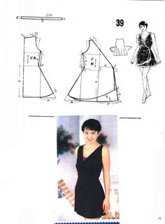 Wrapped dress, patterns instructions