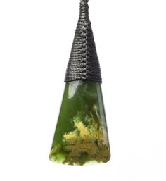 New Zealand Flower Jade Triangle Drop Pendant : Mountain Jade New Zealand