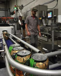 Papa got a brand new.... Canning line! #abe #craftbeer #feedthemonkey #craftcans #canart #jailbreakbrewery by jailbreakbrewco