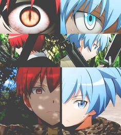 """""""I need to win!"""" - Karma Akabane x Nagisa Shiota Anime Meme, Manga Anime, Fanarts Anime, Anime Guys, Karma Y Nagisa, Karma Kun, Tsurezure Children, Classroom Memes, Koro Sensei"""