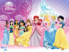 disney princess originals 2D wallpaper by fenixfairy